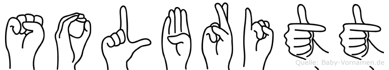 Solbritt in Fingersprache für Gehörlose