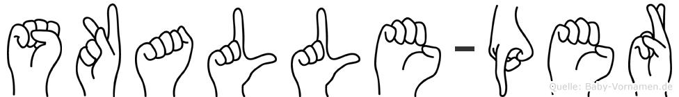 Skalle-Per im Fingeralphabet der Deutschen Gebärdensprache