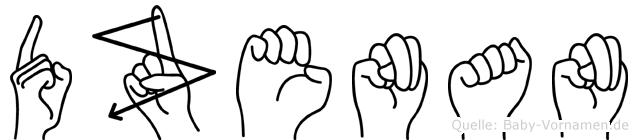 Dzenan in Fingersprache für Gehörlose