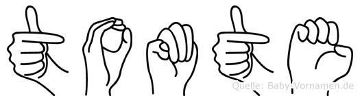 Tomte in Fingersprache für Gehörlose