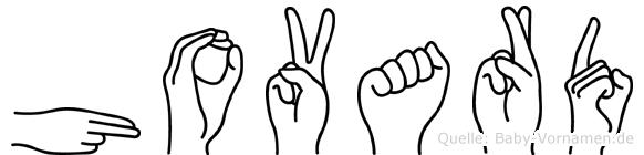 Hovard in Fingersprache für Gehörlose