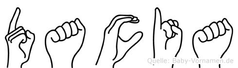 Dacia in Fingersprache für Gehörlose