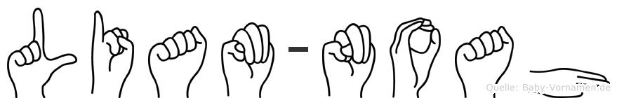 Liam-Noah im Fingeralphabet der Deutschen Gebärdensprache