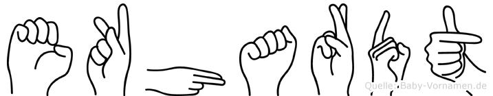Ekhardt in Fingersprache für Gehörlose