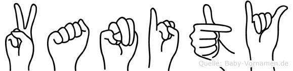 Vanity in Fingersprache für Gehörlose