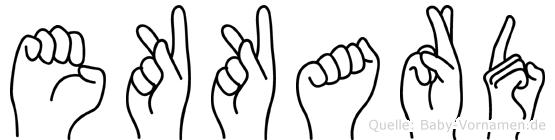 Ekkard im Fingeralphabet der Deutschen Gebärdensprache