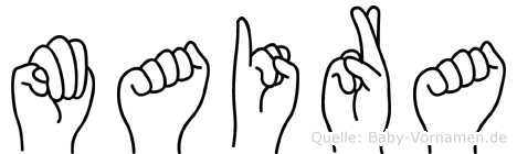 Maira in Fingersprache für Gehörlose