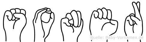 Soner im Fingeralphabet der Deutschen Gebärdensprache