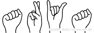 Arya im Fingeralphabet der Deutschen Gebärdensprache
