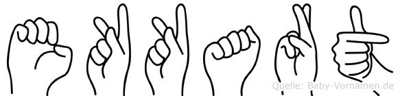 Ekkart in Fingersprache für Gehörlose