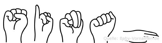 Sinah im Fingeralphabet der Deutschen Gebärdensprache