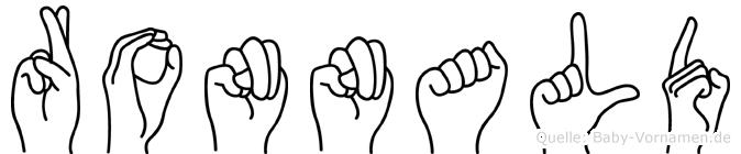 Ronnald im Fingeralphabet der Deutschen Gebärdensprache
