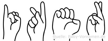 Iker in Fingersprache für Gehörlose