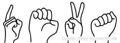Deva in Fingersprache für Gehörlose