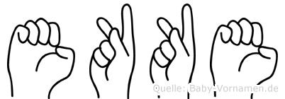 Ekke im Fingeralphabet der Deutschen Gebärdensprache