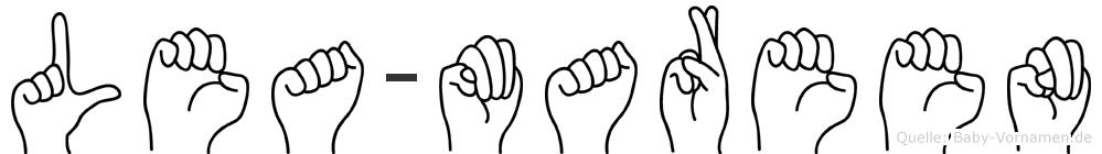 Lea-Mareen im Fingeralphabet der Deutschen Gebärdensprache