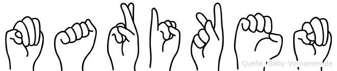 Mariken im Fingeralphabet der Deutschen Gebärdensprache