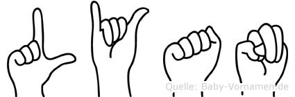 Lyan im Fingeralphabet der Deutschen Gebärdensprache