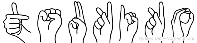 Tsukiko in Fingersprache für Gehörlose