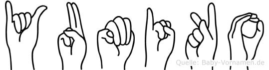 Yumiko im Fingeralphabet der Deutschen Gebärdensprache