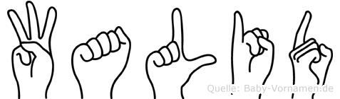 Walid im Fingeralphabet der Deutschen Gebärdensprache