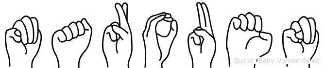 Marouen im Fingeralphabet der Deutschen Gebärdensprache