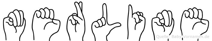 Merline im Fingeralphabet der Deutschen Gebärdensprache