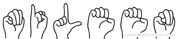 Mileen in Fingersprache für Gehörlose