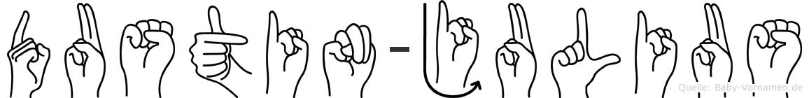 Dustin-Julius im Fingeralphabet der Deutschen Gebärdensprache