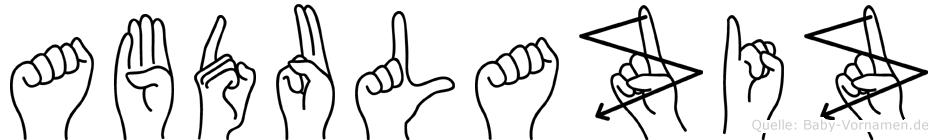 Abdulaziz in Fingersprache für Gehörlose