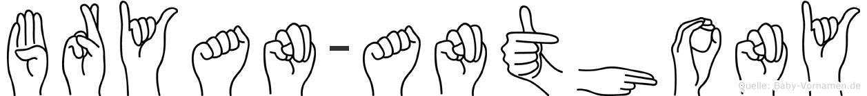 Bryan-Anthony im Fingeralphabet der Deutschen Gebärdensprache