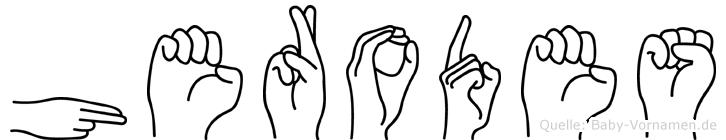 Herodes in Fingersprache für Gehörlose