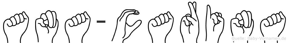 Ana-Carina im Fingeralphabet der Deutschen Gebärdensprache