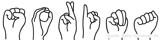 Sorina im Fingeralphabet der Deutschen Gebärdensprache
