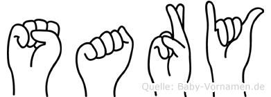 Sary in Fingersprache für Gehörlose