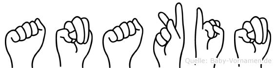 Anakin im Fingeralphabet der Deutschen Gebärdensprache
