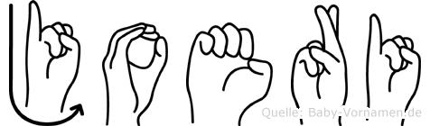 Joeri im Fingeralphabet der Deutschen Gebärdensprache