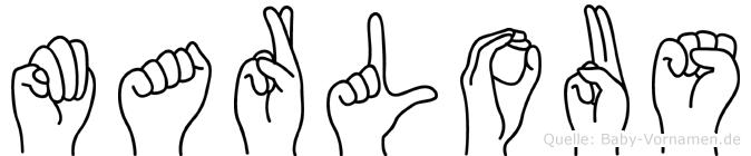 Marlous in Fingersprache für Gehörlose