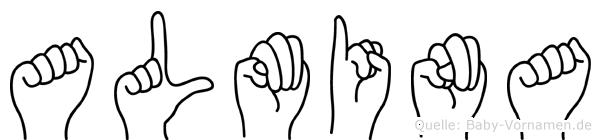Almina in Fingersprache für Gehörlose