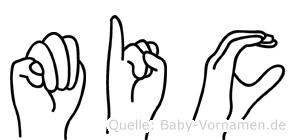 Mic im Fingeralphabet der Deutschen Gebärdensprache