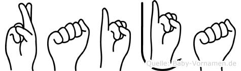 Raija im Fingeralphabet der Deutschen Gebärdensprache