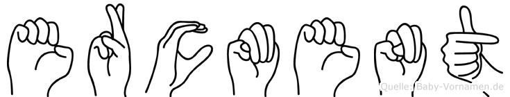 Ercüment im Fingeralphabet der Deutschen Gebärdensprache