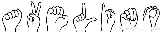 Avelino im Fingeralphabet der Deutschen Gebärdensprache