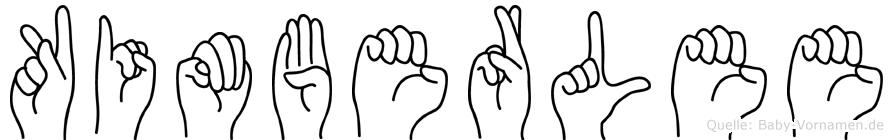 Kimberlee im Fingeralphabet der Deutschen Gebärdensprache