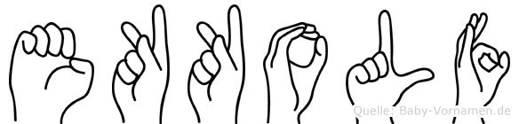 Ekkolf im Fingeralphabet der Deutschen Gebärdensprache