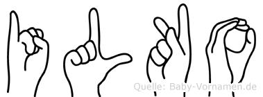 Ilko im Fingeralphabet der Deutschen Gebärdensprache