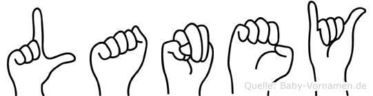 Laney im Fingeralphabet der Deutschen Gebärdensprache