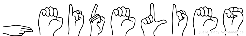 Heidelies in Fingersprache für Gehörlose