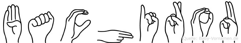 Bachirou im Fingeralphabet der Deutschen Gebärdensprache