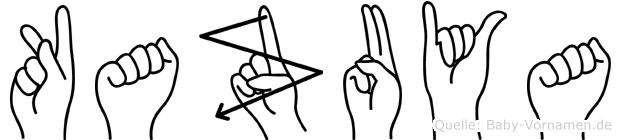 Kazuya im Fingeralphabet der Deutschen Gebärdensprache